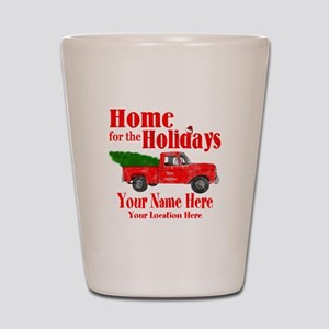 Home for the Holidays Shot Glass