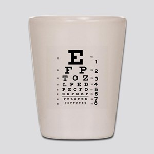 Eye Chart Shot Glass