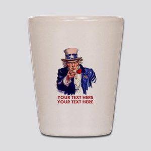 Personalize Uncle Sam Shot Glass