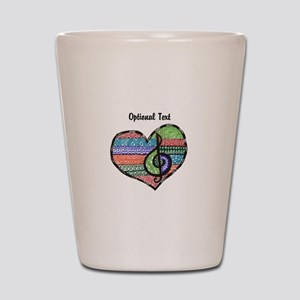 Customizable Music Heart Treble Clef Shot Glass