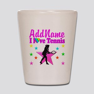 TENNIS PLAYER Shot Glass