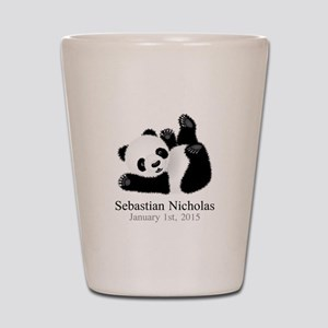 CUSTOM Baby Panda w/Name Birthdate Shot Glass