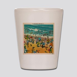 Vintage Virginia Beach Postcard Shot Glass