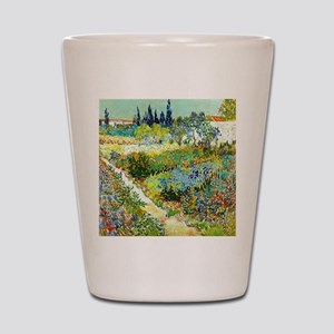 Van Gogh Arles Garden Flowers Shot Glass