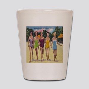 Vintage Florida Bathing Beauties Shot Glass