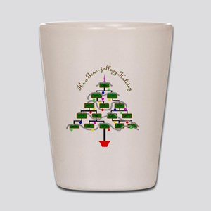 Genealogy Christmas Tree Shot Glass