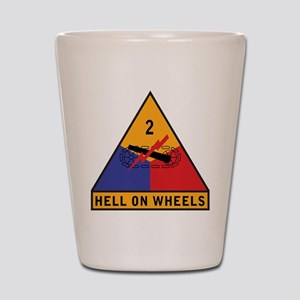 2nd Armored Division - Hell o Shot Glass