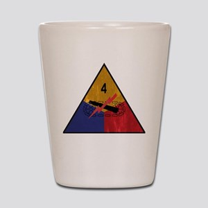 4th Armored Division Vintage Shot Glass