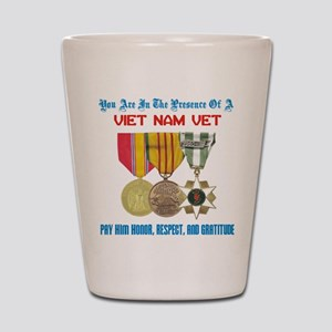 Presence of a Viet Nam Vet Shot Glass