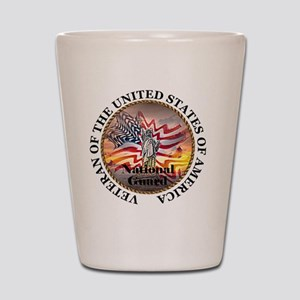 veteran lg size-nationalguard Shot Glass