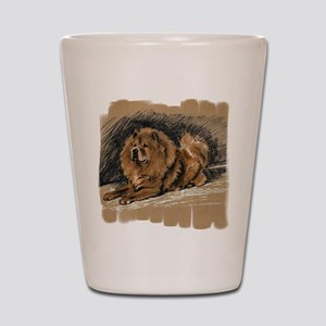 Vintage Chow Chow Shot Glass
