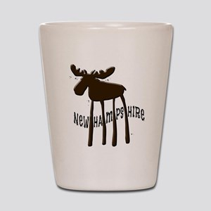 NH Chocolate Moose Shot Glass