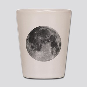 Beautiful full moon Shot Glass