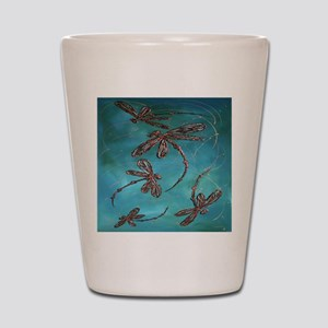 Dragonfly Flit Turquoise Shot Glass