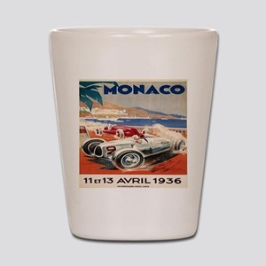 1936 Monte Carlo Grand Prix Poster Shot Glass