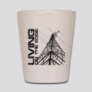 transmission tower edge 1 Shot Glass