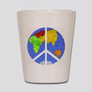 peaceworldornament Shot Glass
