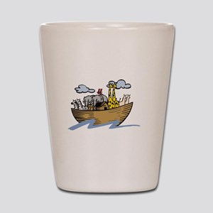 Noah Ark White Shot Glass