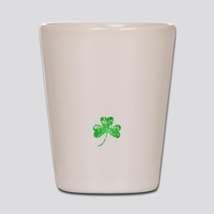 Lucky Shamrock -blk Shot Glass