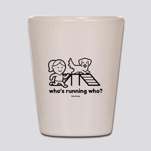 Agility Who's Running Who Shot Glass