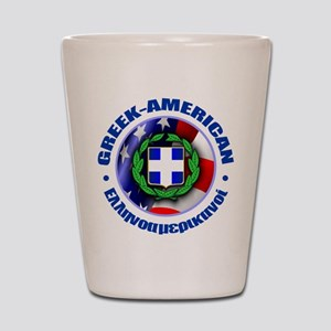 Greek-American Shot Glass