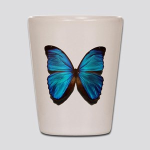 blue butterfly two Shot Glass