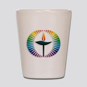 UU Rainbow Logo Shot Glass