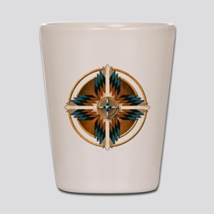 Native American Mandala 02 Shot Glass