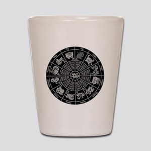 Chinese Zodiac Wheel Shot Glass