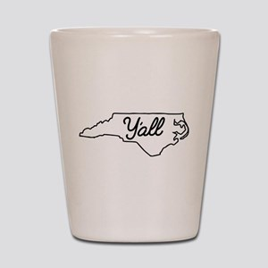 North Carolina Y'all Shot Glass