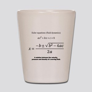 quadratic formula: Euler: mathematics Shot Glass