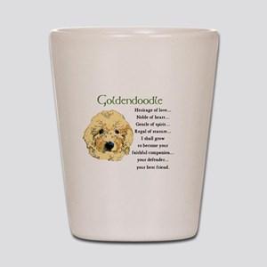Goldendoodle Puppy Shot Glass