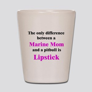 Marine Mom Pitbull Lipstick Shot Glass