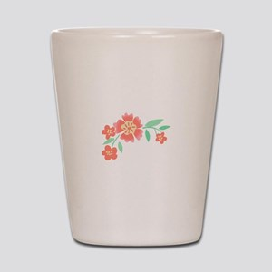 Floral Accent Shot Glass
