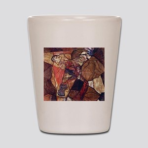 Egon Schiele Agony The Death Struggle Shot Glass