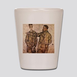 Egon Schiele Double Portrait Shot Glass