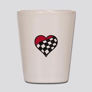 Racing Heart Shot Glass