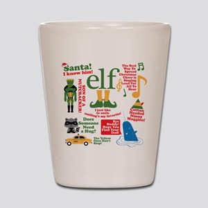 Elf Movie Collage Shot Glass