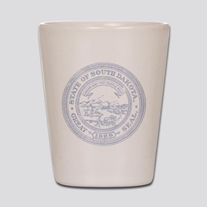 Blue South Dakota State Seal Shot Glass