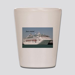 Just cruisin': Dawn Princess cruise shi Shot Glass
