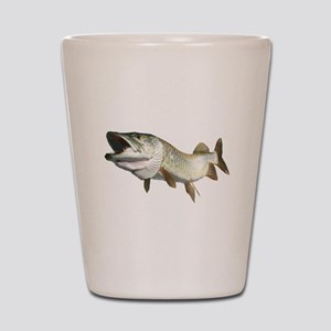 Toothy Musky Shot Glass