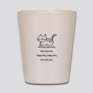 Soft Kitty in Binary Shot Glass
