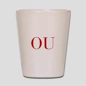 OU-bod red2 Shot Glass