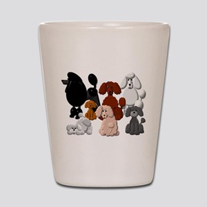 POODLECOLLAGECAFEPRESS Shot Glass