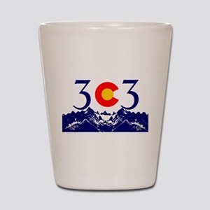 303 Colorado Mountains Shot Glass