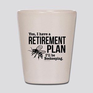 Beekeeping Retirement Shot Glass