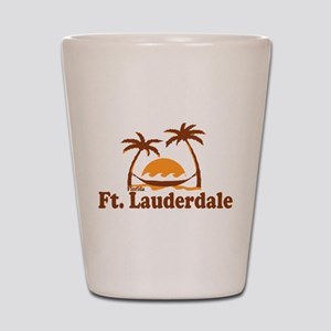Fort Lauderdale - Palm Trees Design. Shot Glass