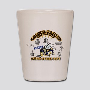 Navy - Seabee - Rates Shot Glass