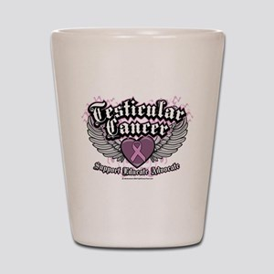 Testicular Cancer Wings Shot Glass