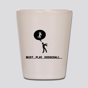 Dodgeball Shot Glass